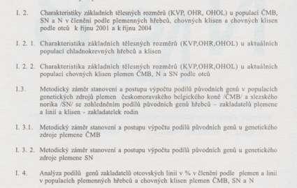 Sborník - Monitoring vývoje populací genetických zdrojů plemen českomoravského belgického koně a slezského norika a plemene Norika v ČR v období let 1995 - 2003 2