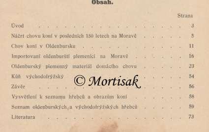 Výsledky chovu oldenburského koně na Moravě 2
